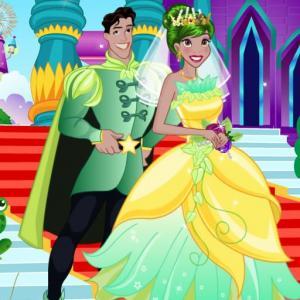 Frog Princess Wedding Dress up