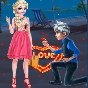 Romantic Wedding Proposal To Elsa