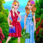 Frozen Flower Princess dreessup