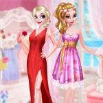 Frozen Sister Rose Style Fashion