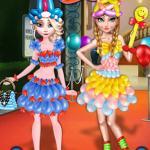 Frozen Sisters Balloon Dress Look